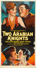 """Movie Posters:Comedy, Two Arabian Knights (United Artists, 1927). Fine on Linen. ThreeSheet (41"""" X 77.75"""").. ..."""