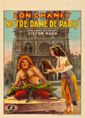 "Movie Posters:Horror, The Hunchback of Notre Dame (Universal, 1923). Very Good/Fine on Linen. Pre-War Belgian (24"" X 33"").. ..."