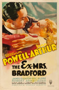 Movie Posters:Mystery, The Ex-Mrs. Bradford (RKO, 1936). Fine/Very Fine on Linen....