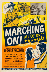 """Marching On! (Astor Pictures, 1943). Very Fine on Linen. One Sheet (28.25"""" X 41"""")"""