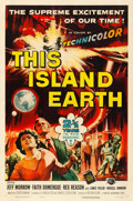 Movie Posters:Science Fiction, This Island Earth (Universal International, 1955). Fine/Ve...