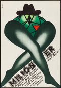 """Movie Posters:Miscellaneous, Polish Poster Lot (Various, Late 1970s - 1980s). Rolled & FlatFolded, Very Fine-. Polish Posters (5) (26.25"""" X 38.25..."""