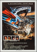 "Movie Posters:Action, Superman II (Warner Brothers, 1981). Folded, Very Fine. Italian 2 -Fogli (39.25"" X 55""). Action.. ..."