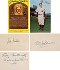 Baseball Collectibles:Others, 1920's-'50's Baseball Greats Signed Index Cards & Postcards Lot of 14. ...