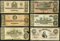 Confederate Notes:Group Lots, Six Different Confederate Types. Very Good or Better.. ... (Total: 6 notes)