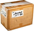 Baseball Cards:Unopened Packs/Display Boxes, 1984 Topps Baseball Unopened Rack Case With Six 24-Count Boxes!...