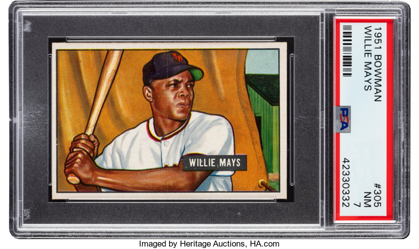 1951 Bowman Willie Mays 305 Psa Nm 7 Baseball Cards Singles