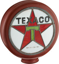 "Petroliana: ""Texaco Star Logo"" Stained Glass Illuminated Globe"