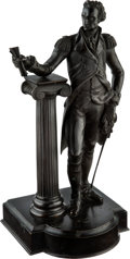 Antiques:Decorative Americana, George Washington: Standing Bronze....