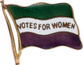 Political:Pinback Buttons (1896-present), Woman's Suffrage: Beautiful Enamel Badge.. ...
