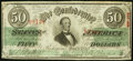 Confederate Notes:1863 Issues, T57 $50 1863 Very Fine, CC.. ...