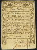 Colonial Notes:Rhode Island, Rhode Island May 1786 3s About New.. ...
