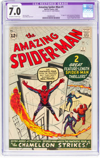 The Amazing Spider-Man #1 (Marvel, 1963) CGC Apparent FN/VF 7.0 Off-white to white pages