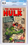 Silver Age (1956-1969):Superhero, The Incredible Hulk #5 (Marvel, 1963) CGC VF+ 8.5 Off-whitepages....