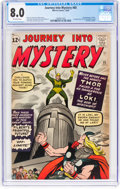 Silver Age (1956-1969):Superhero, Journey Into Mystery #85 (Marvel, 1962) CGC VF 8.0 Off-whitepages....