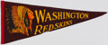 Football Collectibles:Others, c. 1940s Washington Redskins Pennant. ...