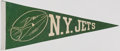Football Collectibles:Others, c. 1960s New York Jets Pennant. ...
