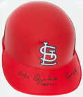 Autographs:Others, Ozzie Smith Signed St. Louis Cardinals Helmet With 3 Inscriptions....