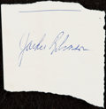 Autographs:Index Cards, c. 1960s Jackie Robinson Cut Signature....