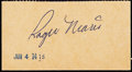Autographs:Index Cards, c. 1960s Roger Maris Signed Valet Ticket. ...