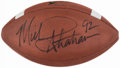 Autographs:Footballs, Michael Strahan Signed Football....