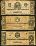 Confederate Notes:1862 Issues, Seven Confederate Notes 1862-64.. ... (Total: 7 notes)