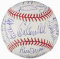Autographs:Baseballs, 1975 Boston Red Sox - AL Champs - Team Signed Reunion Baseball (22Signatures). ...