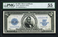 Large Size:Silver Certificates, Fr. 282 $5 1923 Silver Certificate PMG About Uncirculated 55.. ...
