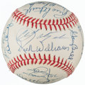 Autographs:Baseballs, 1967 Boston Red Sox - AL Champs - Team Signed Reunion Baseball (25 Signatures)....