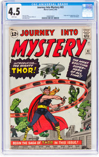 Journey Into Mystery #83 (Marvel, 1962) CGC VG+ 4.5 White pages