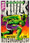 Silver Age (1956-1969):Superhero, The Incredible Hulk Annual #1 (Marvel, 1968) Condition: FN/VF....