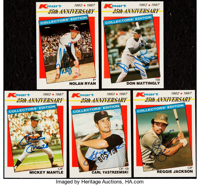 1987 Topps K Mart Signed Baseball Card Collection 5