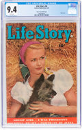 Golden Age (1938-1955):Romance, Life Story #6 Mile High Pedigree (Fawcett Publications, 1949) CGCNM 9.4 White pages....