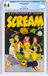 Scream Comics #17 Mile High Pedigree (Humor Publications/Current Books, 1947) CGC NM 9.4 Off-white to white pages