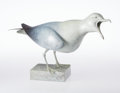 Sculpture, Geoffrey Dashwood (British, b. 1947). Herring Gull. Bronze with white and blue patina. 12-3/4 inches (32.4 cm). Ed. 12/1...