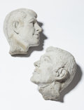 Fine Art - Painting, American, Allen Ruppersberg (American, b. 1944). Two Heads, circa1980. Cast concrete. 9-1/2 x 11 inches (24.1 x 27.9 cm) (each, a...(Total: 2 Items)