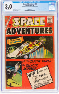 Space Adventures #33 (Charlton, 1960) CGC GD/VG 3.0 Off-white pages