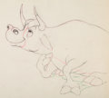 Animation Art:Production Drawing, Ferdinand the Bull Production Animation Drawing (Disney,1938)....