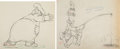 Animation Art:Production Drawing, Mother Goose Goes Hollywood Laurel and Hardy AnimationDrawings Group of 2 (Walt Disney, 1938).... (Total: 2 Original Art)