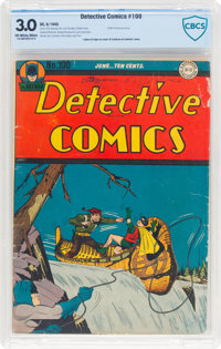 Detective Comics #100 (DC, 1945) CBCS GD/VG 3.0 Off-white to white pages