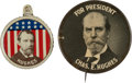 Political:Pinback Buttons (1896-present), Charles Evans Hughes: Large Picture Pin and Litho Tab.... (Total: 2 Items)