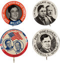 Political:Pinback Buttons (1896-present), Wendell Willkie: Four Different Buttons....