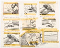 Animation Art:Production Drawing, Ben and Me Storyboard Drawings by Bill Peet (Walt Disney, 1953)....