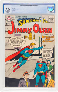 Superman's Pal Jimmy Olsen #19 (DC, 1957) CBCS VF- 7.5 Off-white to white pages