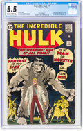 Silver Age (1956-1969):Superhero, The Incredible Hulk #1 (Marvel, 1962) CGC FN- 5.5 Off-white to white pages....