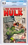 Silver Age (1956-1969):Superhero, The Incredible Hulk #5 (Marvel, 1963) CGC VF+ 8.5 Off-white to white pages....