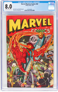 Marvel Mystery Comics #60 (Timely, 1944) CGC VF 8.0 Off-white to white pages