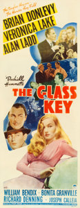 "Movie Posters:Film Noir, The Glass Key (Paramount, 1942). Fine+ on Paper. Insert (14.25"" X36.25"").. ..."