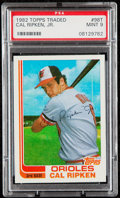 Baseball Cards:Singles (1970-Now), 1982 Topps Traded Cal Ripken Jr. #98T PSA Mint 9....