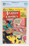 Golden Age (1938-1955):Superhero, Action Comics #186 (DC, 1953) CBCS VG- 3.5 Off-white to white pages....